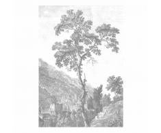 KEK Amsterdam Engraved Landscape I Fototapete - grau - 194,8 x 280 cm (= 4 Bahnen)