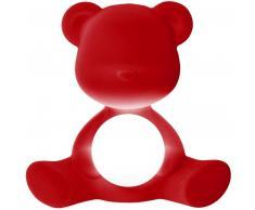 qeeboo Teddy Girl Rechargeable Lamp Velvet Finish Tischleuchte - red - 35 x 24 x 32 cm