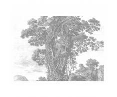 KEK Amsterdam Engraved Landscape II Fototapete - grau - 389,6 x 280 cm (= 8 Bahnen)