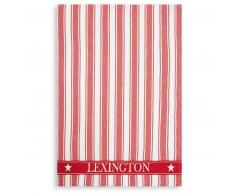 LEXINGTON Icons Cotton Twill Waffle Striped Geschirrtuch - red-white - 50x70 cm