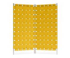 Hey-SIGN Geflecht Paravent mit 2 Wandelementen - curry - 2 x B 80 x H 180 cm - mit schwarzem Rahmen