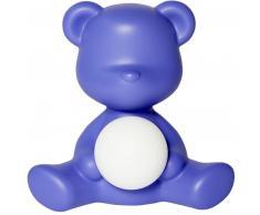 qeeboo Teddy Girl Rechargeable Lamp Tischleuchte - violet - 35 x 24 x 32 cm