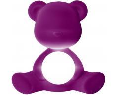 qeeboo Teddy Girl Rechargeable Lamp Velvet Finish Tischleuchte - violet - 35 x 24 x 32 cm