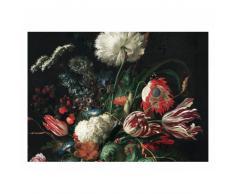 KEK Amsterdam Golden Age Flowers I Fototapete - schwarz - 389,6 x 280 cm (= 8 Bahnen)