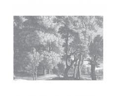 KEK Amsterdam Engraved Landscapes Fototapete - grau - 389,6 x 280 cm (= 8 Bahnen)