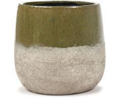 Serax Dip L Blumentopf - grün-sand - Ø21,5 cm - Höhe 20,5 cm
