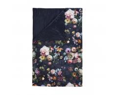 Essenza Fleur Tagesdecke - Nightblue - 180x265 cm