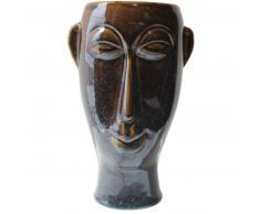 Present Time Mask Blumentopf lang - dark brown - 17,2 x 16,2 x 27,2 cm