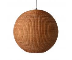 HK living Bamboo Hängelampe - braun - Ø 60 cm - Höhe 55,5 cm