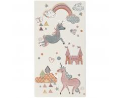 Esprit Sunny Unicorn Kinderteppich - weiß - 80x150 cm