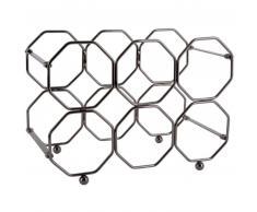 Present Time Honeycomb Weinregal - smokey grey - 31 x 16,5 x 22 cm