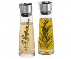 blomus Alinjo Essig- und Öl-Set - silber - 180 ml