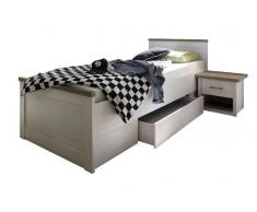 Z2 Einzelbett LUCA,Holznachbildung,Weiß
