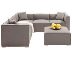 Amatio Lounge-Set AUGSBURG,Stoff,grau