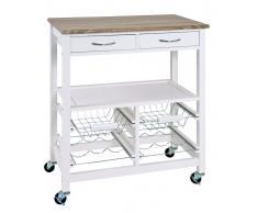 Zurbrüggen Küchenwagen,MDF,Weiß