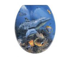 Zurbrüggen WC-Sitz Sea Life,Duroplast,blau