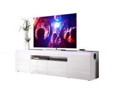 XORA TV-Lowboard RAVING,Holznachbildung,Weiß