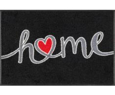 Kleen-Tex Fußmatte Swinging Home,Polyamid,schwarz