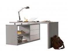 Eck-Schreibtisch PUNTO,Holznachbildung,beton