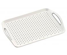 Homeware Serviertablett 45,5x32x4,5cm KESPER,Kunststoff,Weiß