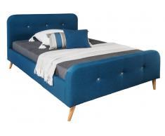 Z2 Bett AGNES,Stoff,dunkelblau