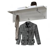 Garderobenpaneel LUCA,Holznachbildung,Weiß