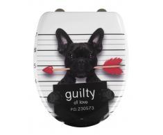 Zurbrüggen Premium WC-Sitz Guilty Dog,Duroplast,multicolour