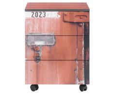 Zurbrüggen Rollcontainer CONTAINER,Holznachbildung,rot