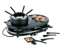Kela Raclette/Grill/Fondue Bernadin FS02,Stahl,schwarz