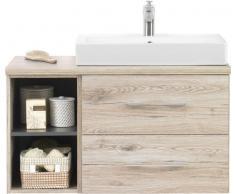 Zurbrüggen Waschtischunterschrank GIRONA,Holznachbildung,eiche