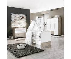 Paidi Babyzimmer LENNOX,Holznachbildung,Weiß
