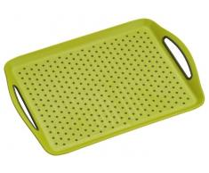 Homeware Serviertablett 45,5x32x4,5cm KESPER,Kunststoff,grün