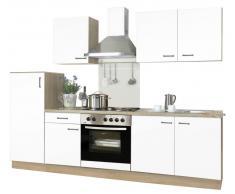 Menke Küchen Küchenblock Biggi,Holznachbildung,Weiß