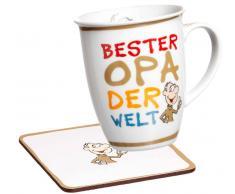 Ritzenhoff & Breker Kaffeebecher mit Untersetzer,Porzellan,multicolour
