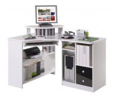 Cantus Eck-Schreibtisch TANJA,Holznachbildung,Weiß