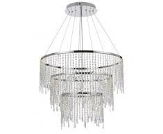 Zurbrüggen LED-Hängeleuchte Megacrystal,Aluminium,klar