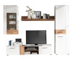 Ti´me Wohnwand PILSEN,Holznachbildung,Weiß