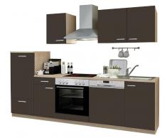 Menke Küchen Küchenblock Lava,Holznachbildung,Lava