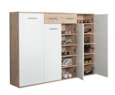XL-Schuhschrank FAKIR,Holznachbildung,eiche