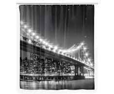 Zurbrüggen LED Duschvorhang Brooklyn B.,Polyester,Motiv