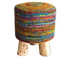 Z2 Sitzhocker MILA,Seide,multicolour