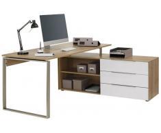 Voleo Eck-Schreibtisch OREGON,Holznachbildung,eiche