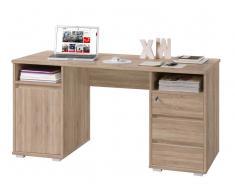 Schreibtisch PRIMA,Holznachbildung,Eiche sägerau/sonoma