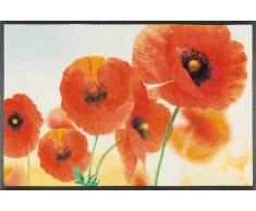 Kleen-Tex Fußmatte Sunny Poppy,Polyamid,rot