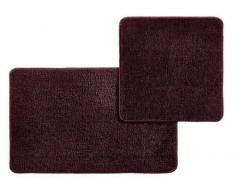 Esposa Badematte 50/80+50/50cm DOURO,Polyester,bordeaux