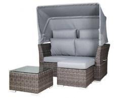 Zebra Lounge-Set JACK JUNIOR,Kunstfasern,taupe