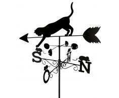 Zurbrüggen Wetterfahne Katze, Wetterhahn,Metall,schwarz