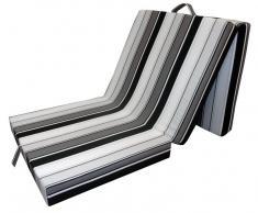 Z2 Faltmatratze SAMBA,Stoff,schwarz/weiß