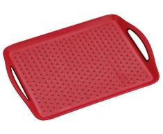 Homeware Serviertablett 45,5x32x4,5cm KESPER,Kunststoff,rot