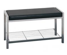 BOXXX Garderobenbank Enya,Aluminium,schwarz